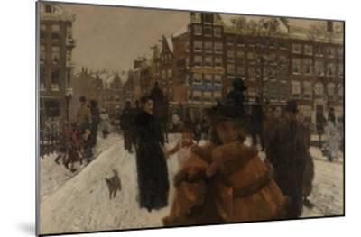 Bridge over the Singel at the Paleisstraat, Amsterdam, C. 1896-George Hendrik Breitner-Mounted Giclee Print