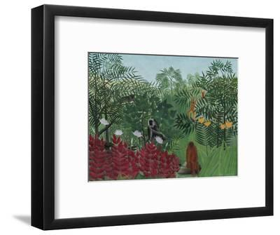 Tropical Forest with Monkeys, 1910-Henri Rousseau-Framed Giclee Print