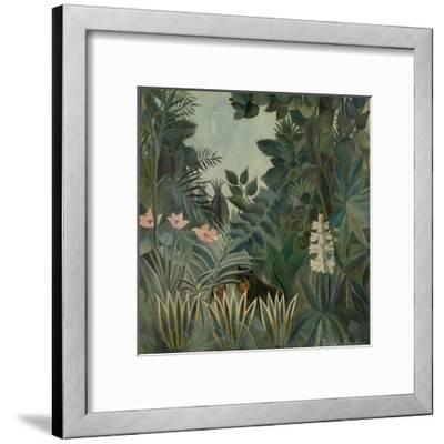 The Equatorial Jungle, 1909-Henri Rousseau-Framed Giclee Print