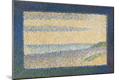 Seascape (Gravelines), 1890-Georges Seurat-Mounted Giclee Print
