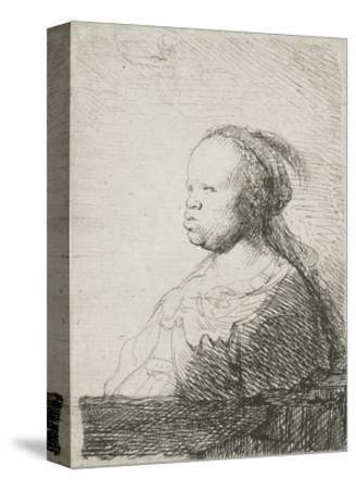 Bust of an African Woman, 1628-32-Rembrandt van Rijn-Stretched Canvas Print