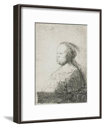 Bust of an African Woman, 1628-32-Rembrandt van Rijn-Framed Giclee Print