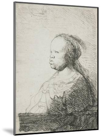 Bust of an African Woman, 1628-32-Rembrandt van Rijn-Mounted Giclee Print