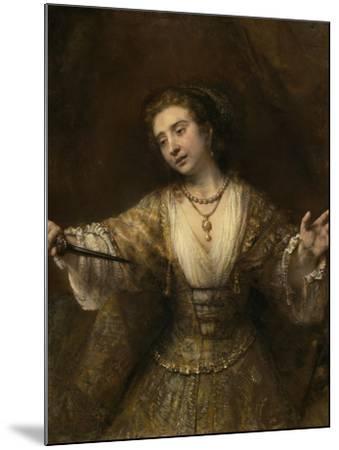 Lucretia, 1664-Rembrandt van Rijn-Mounted Giclee Print