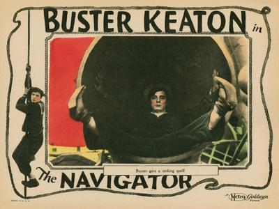 The Navigator, Buster Keaton, 1924--Stretched Canvas Print