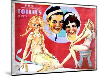 Fox Movietone Follies of 1929, Center, John Breeden, Sharon Lynn, 1929--Mounted Giclee Print