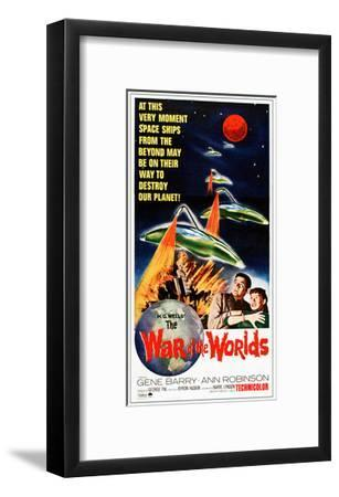 The War of the Worlds, Bottom from Left: Gene Barry, Ann Robinson on 1965 Poster Art, 1953--Framed Giclee Print