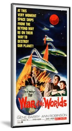 The War of the Worlds, Bottom from Left: Gene Barry, Ann Robinson on 1965 Poster Art, 1953--Mounted Giclee Print