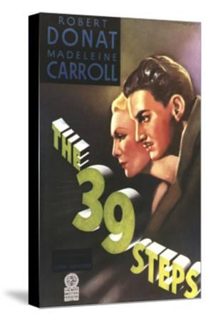 The 39 Steps, from Left: Madeleine Carroll, Robert Donat, 1935--Stretched Canvas Print