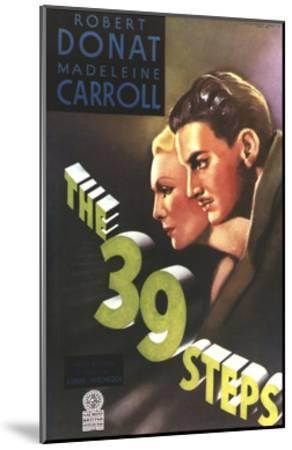 The 39 Steps, from Left: Madeleine Carroll, Robert Donat, 1935--Mounted Giclee Print