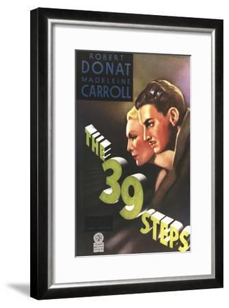 The 39 Steps, from Left: Madeleine Carroll, Robert Donat, 1935--Framed Giclee Print