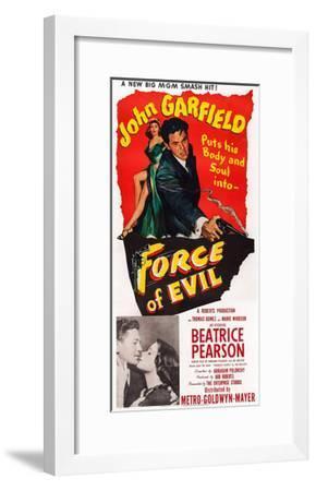 Force of Evil, John Garfield, Beatrice Pearson, 1948--Framed Giclee Print