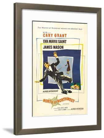 North by Northwest, Cary Grant, Eva Marie Saint on Poster Art, 1959--Framed Giclee Print