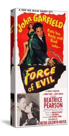 Force of Evil, John Garfield, Beatrice Pearson, 1948--Stretched Canvas Print