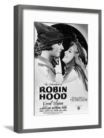 The Adventures of Robin Hood, from Left, Errol Flynn, Olivia De Havilland, 1938--Framed Premium Giclee Print