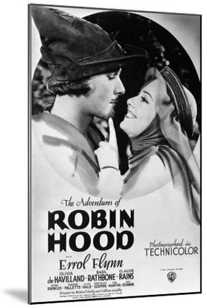 The Adventures of Robin Hood, from Left, Errol Flynn, Olivia De Havilland, 1938--Mounted Premium Giclee Print