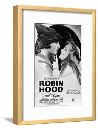 The Adventures of Robin Hood, from Left, Errol Flynn, Olivia De Havilland, 1938--Framed Giclee Print