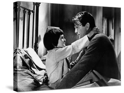 To Kill a Mockingbird, from Left: Mary Badham, Gregory Peck, 1962--Stretched Canvas Print