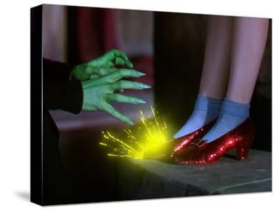 The Wizard of Oz, from Left: Margaret Hamilton, Judy Garland, 1939--Stretched Canvas Print