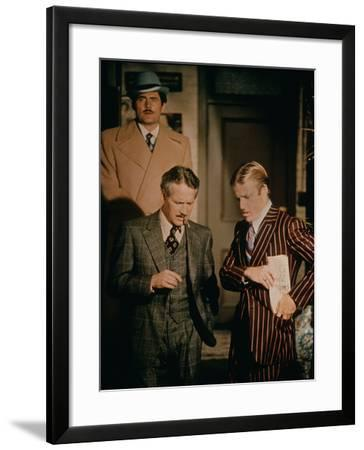 The Sting, Robert Shaw (Rear), Front from Left: Paul Newman, Robert Redford, 1973--Framed Photo