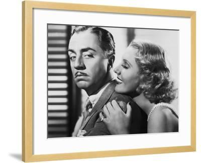 The Ex-Mrs. Bradford, from Left: William Powell, Jean Arthur, 1936--Framed Photo