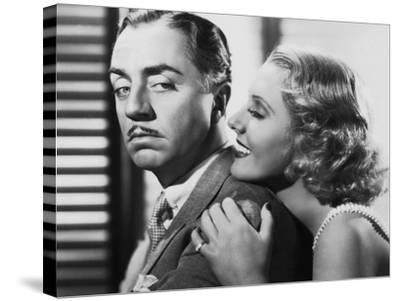 The Ex-Mrs. Bradford, from Left: William Powell, Jean Arthur, 1936--Stretched Canvas Print
