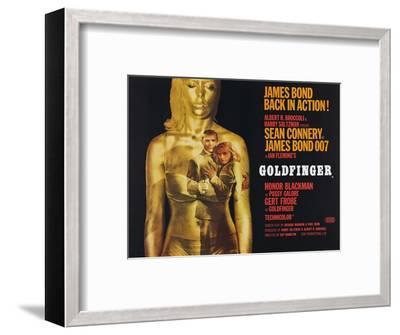 Goldfinger, Sean Connery, Honor Blackman, 1964--Framed Giclee Print
