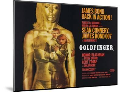 Goldfinger, Sean Connery, Honor Blackman, 1964--Mounted Giclee Print