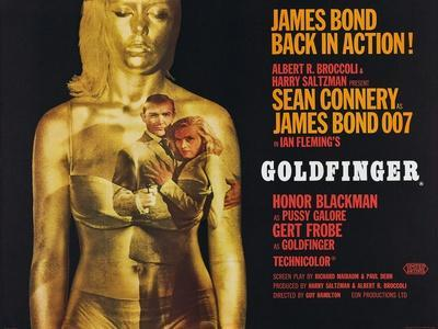 Goldfinger, Sean Connery, Honor Blackman, 1964--Stretched Canvas Print