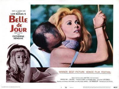 Belle de Jour, Michel Piccoli, Catherine Deneuve, 1967--Stretched Canvas Print