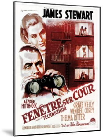 Rear Window, (aka Fenetre Sur Cour), French Poster Art, 1954--Mounted Giclee Print