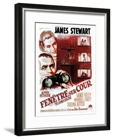 Rear Window, (aka Fenetre Sur Cour), French Poster Art, 1954--Framed Giclee Print