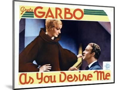 As You Desire Me, from Left, Greta Garbo, Roland Varno, 1932--Mounted Giclee Print