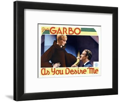 As You Desire Me, from Left, Greta Garbo, Roland Varno, 1932--Framed Giclee Print