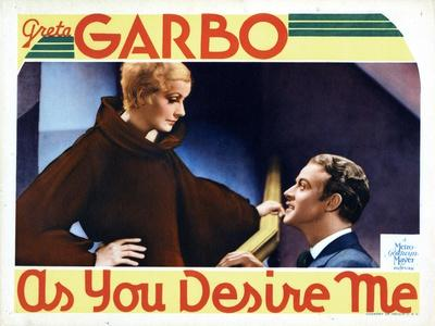 As You Desire Me, from Left, Greta Garbo, Roland Varno, 1932--Stretched Canvas Print