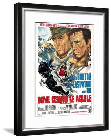 Where Eagles Dare, (AKA Dove Osano Le Aquile), from Left: Clint Eastwood, Richard Burton, 1968--Framed Giclee Print