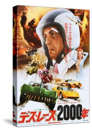 Death Race 2000, Japanese Poster Art, Sylvester Stallone, 1975--Stretched Canvas Print