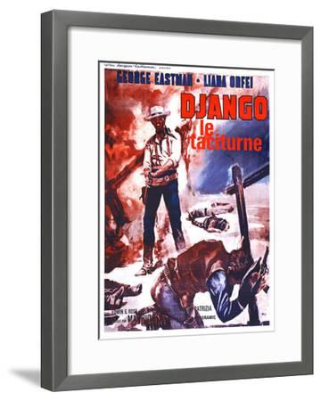Django Kills Softly, (aka Bill Il Taciturno), French Poster Art, George Eastman, 1968--Framed Giclee Print