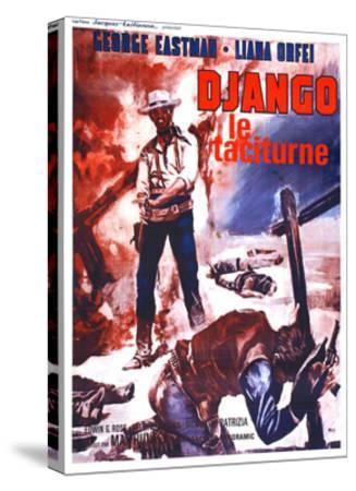 Django Kills Softly, (aka Bill Il Taciturno), French Poster Art, George Eastman, 1968--Stretched Canvas Print