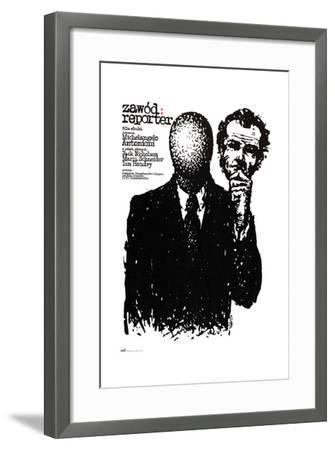 The Passenger, (aka Professione), Polish Poster Art, 1975--Framed Giclee Print