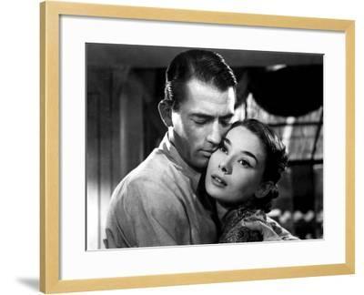 Roman Holiday, Gregory Peck, Audrey Hepburn, 1953--Framed Photo