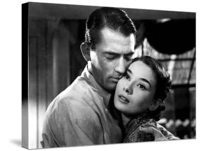 Roman Holiday, Gregory Peck, Audrey Hepburn, 1953--Stretched Canvas Print