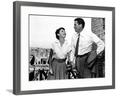 Roman Holiday, Audrey Hepburn, Gregory Peck, 1953--Framed Photo
