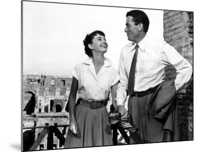 Roman Holiday, Audrey Hepburn, Gregory Peck, 1953--Mounted Photo