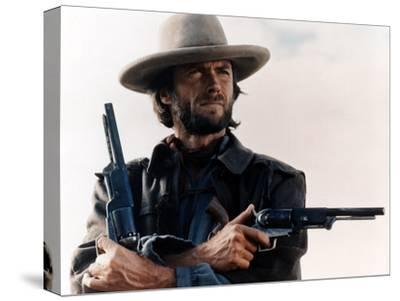 The Outlaw Josey Wales, Clint Eastwood, 1976--Stretched Canvas Print