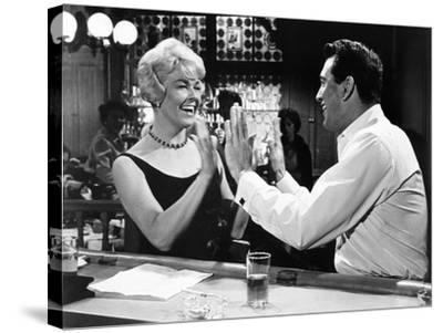 Pillow Talk, Doris Day, Rock Hudson, 1959--Stretched Canvas Print