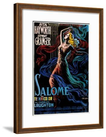 Salome, Rita Hayworth on Italian Poster Art, 1953--Framed Giclee Print