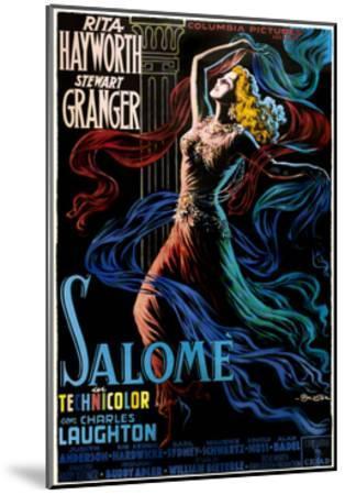 Salome, Rita Hayworth on Italian Poster Art, 1953--Mounted Giclee Print