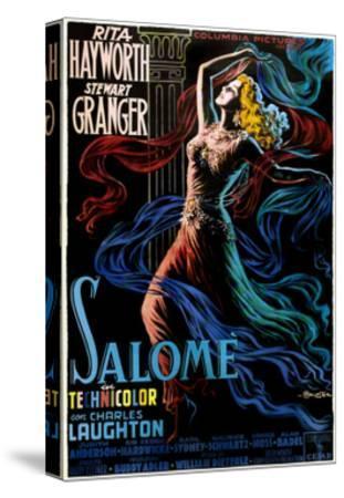 Salome, Rita Hayworth on Italian Poster Art, 1953--Stretched Canvas Print