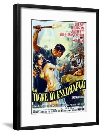 The Tiger of Eschnapur, (AKA Der Tiger Von Eschnapur), Italian Poster Art, 1959--Framed Giclee Print